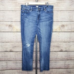 J.Crew Colorado Wash Boyfriend Distressed Jeans